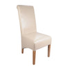 Krista Bonded Leather Chair -Ivory - Dining Room by Shankar available from Harley & Lola - 5