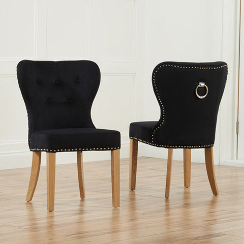 Kalim Dining Chairs -Black - Dining Room by MHarris available from Harley & Lola - 1
