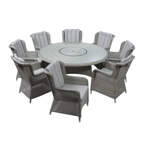 LIFE Outdoor Living King Eight Seat Dining Set