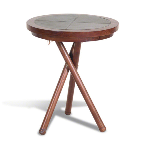 Capri Leather Wine Table