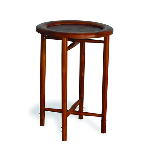 Capri Leather Barber Tray Table