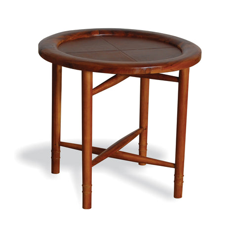 Capri Leather Side Table
