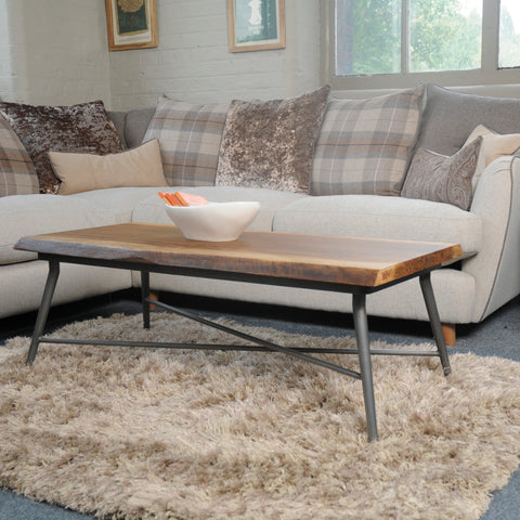 Hoxton Mango Wood Coffee Table with Floating base