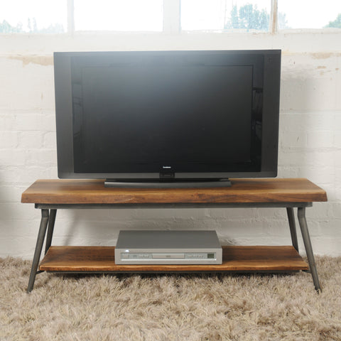 Hoxton Mango Wood Media Unit with Floating base