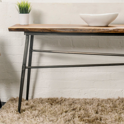 Hoxton Mango Wood Console Table with Floating base
