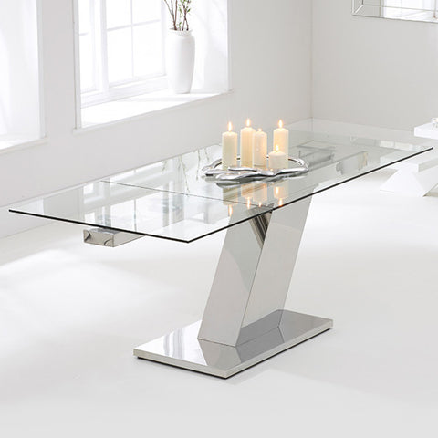 Mark Harris Lamont Glass Extending Dining Table