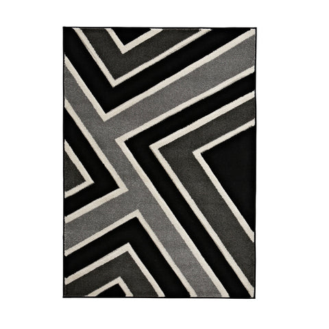 Matrix Rug Black/Grey