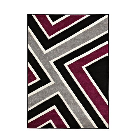 Matrix Black/Violet Rug