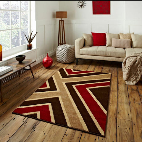 Matrix Brown/Red Rug