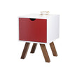 Lova Side Table -White / Red - Living Room by Sno available from Harley & Lola - 2