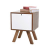 Lova Side Table -Wood / White - Living Room by Sno available from Harley & Lola - 4