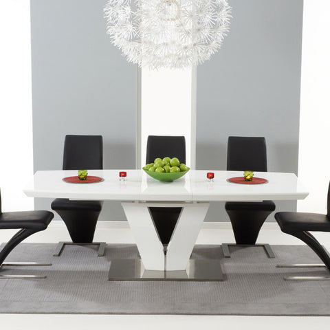 Mark Harris Malibu 180cm Extending White High Gloss Dining Table