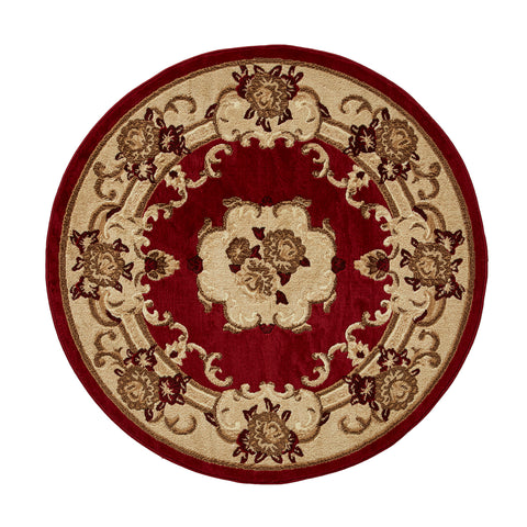 Think Rugs Marrakesh Red Circle