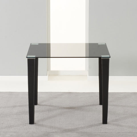 Mark Harris Melrose Glass And Leather Table
