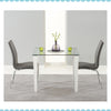 Melrose 90Cm Black Glass And Pu Leather Table by Harley & Lola