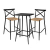 Milos Rattan & Aluminium 2 Seater Bar Set -Black - Garden and Conservatory by Cozy Bay available from Harley & Lola - 2
