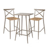 Milos Rattan & Aluminium 2 Seater Bar Set -Light Taupe - Garden and Conservatory by Cozy Bay available from Harley & Lola - 3