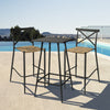 Milos Rattan & Aluminium 2 Seater Bar Set - - Garden and Conservatory by Cozy Bay available from Harley & Lola - 1