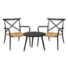 Milos Rattan & Aluminium 2 Seater Set -Black - Garden and Conservatory by Cozy Bay available from Harley & Lola - 2