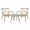 Milos Rattan & Aluminium 2 Seater Set -Light Taupe - Garden and Conservatory by Cozy Bay available from Harley & Lola - 3