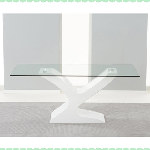 Mark Harris Natalie Glass And Gloss Table