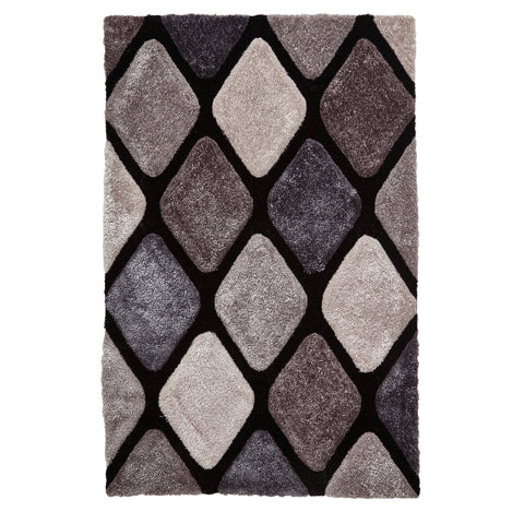Think Rugs Noble House Black/Grey