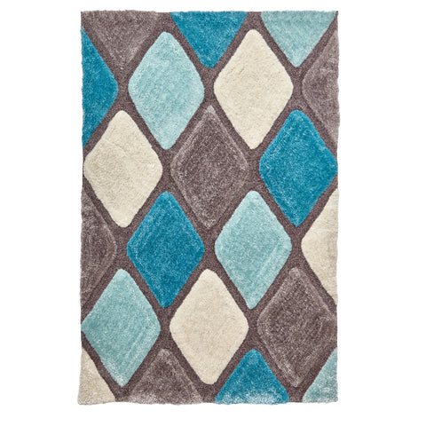 Think Rugs Noble House Grey/Blue