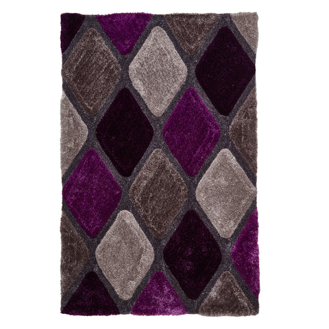 Think Rugs Noble House Grey/Purple