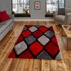 Think Rugs Noble House Grey/Red