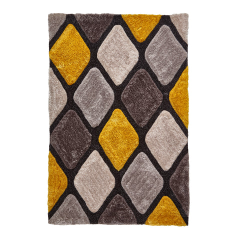 Think Rugs Noble House Grey/Yellow