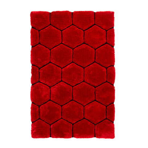 Think Rugs Noble House NH30782 Red/Black