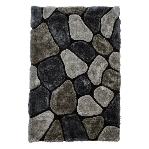 Think Rugs Noble House NH5858 Grey/Cobalt