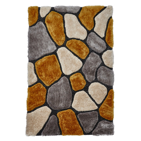 Think Rugs Noble House NH5858 Grey/Yellow