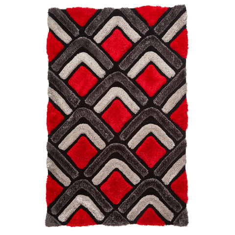 Think Rugs Noble House NH8199 Black/Red