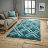 Think Rugs Noble House NH8199 Blue