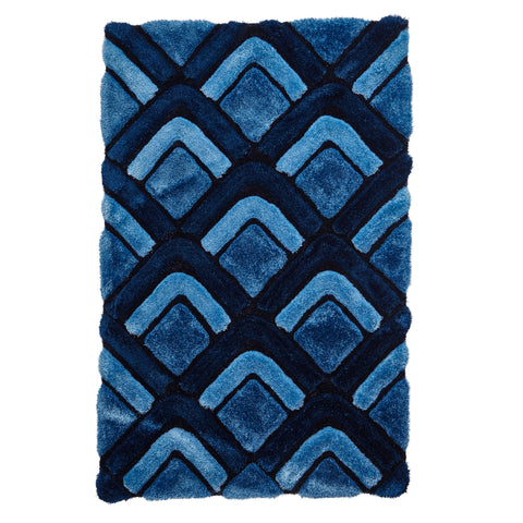 Think Rugs Noble House NH8199 Dark Blue
