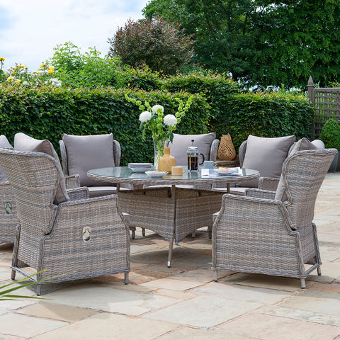 Handpicked Norwich Adjustable 6 Seat Dining Set