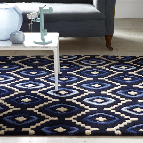 Plantation Rug Co. Origins Blue/Cream