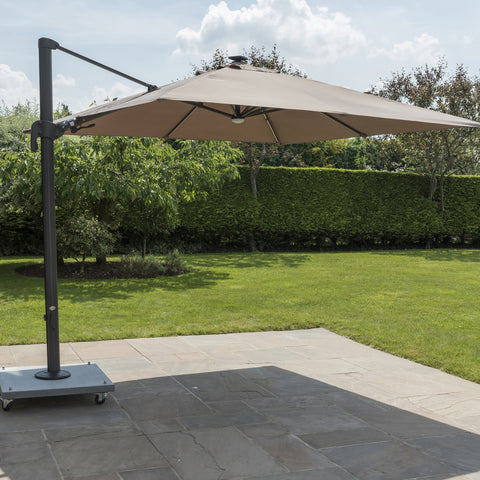 Norfolk Leisure Palermo 3x3m Cantilever Parasol LED Strip Lights