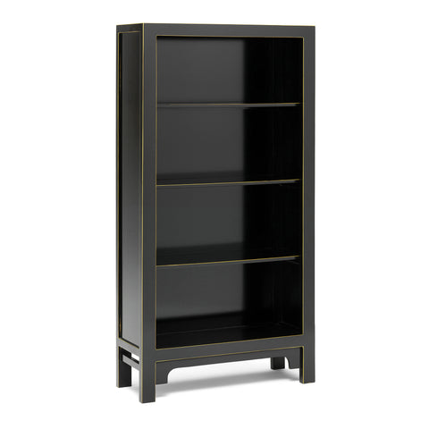 Baumhaus The Nine Schools Qing Black and Gilt Large Bookcase