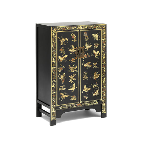 Baumhaus The Nine Schools Oriental Decorated Black Medium Cabinet
