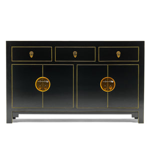 Baumhaus The Nine Schools Qing Black and Gilt Large Sideboard