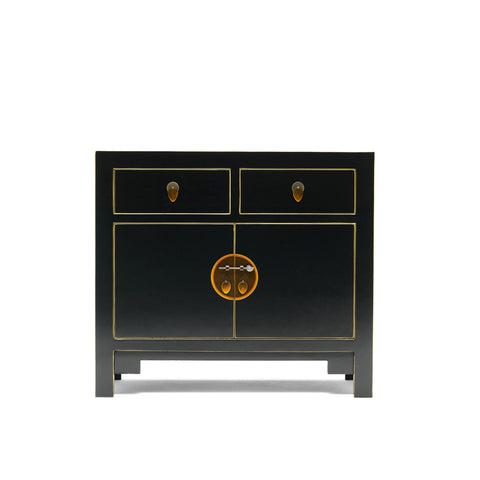 Baumhaus The Nine Schools Qing Black and Gilt Small Sideboard