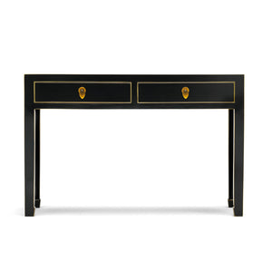 Baumhaus The Nine Schools Qing Black and Gilt Large Console Table