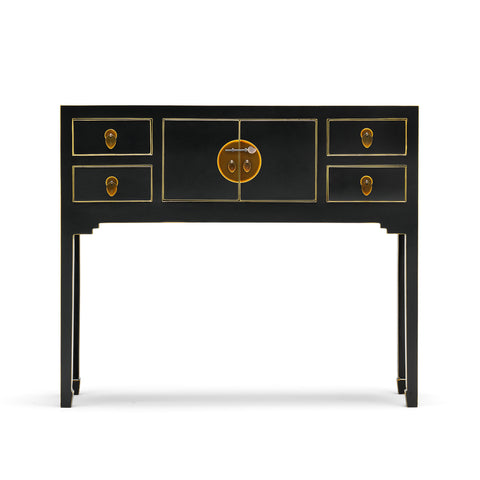Baumhaus The Nine Schools Qing Black and Gilt Small Console Table