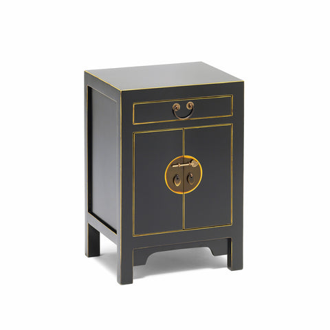 Baumhaus The Nine Schools Qing Black and Gilt Small Cabinet