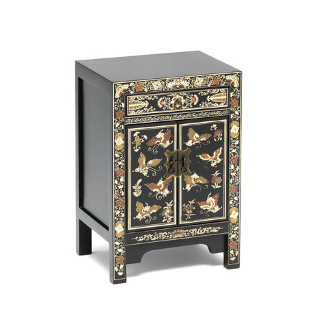 Baumhaus The Nine Schools Oriental Decorated Black Small Cabinet