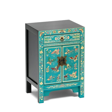Baumhaus The Nine Schools Oriental Decorated Blue Small Cabinet