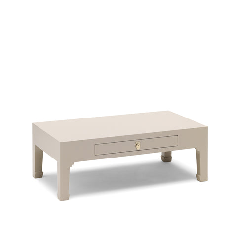 Baumhaus The Nine Schools Qing Oyster Grey Coffee Table with Drawer