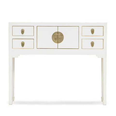 Baumhaus The Nine Schools Qing White Console Table